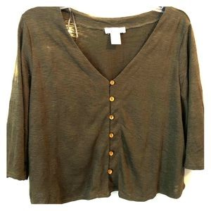 Medium Sleeve Green Urban Romantic Shirt